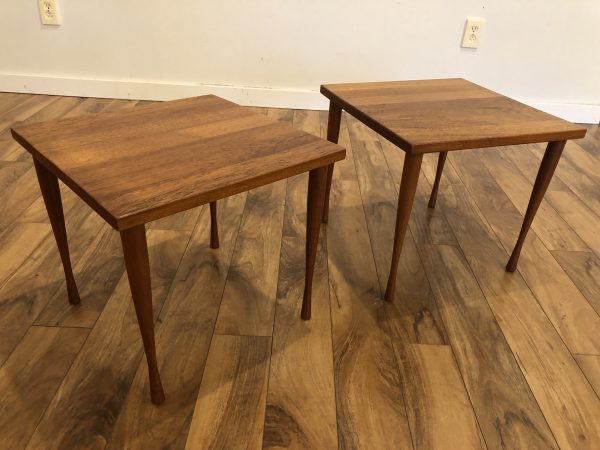 Hans C Andersen Teak End Tables – $250 each