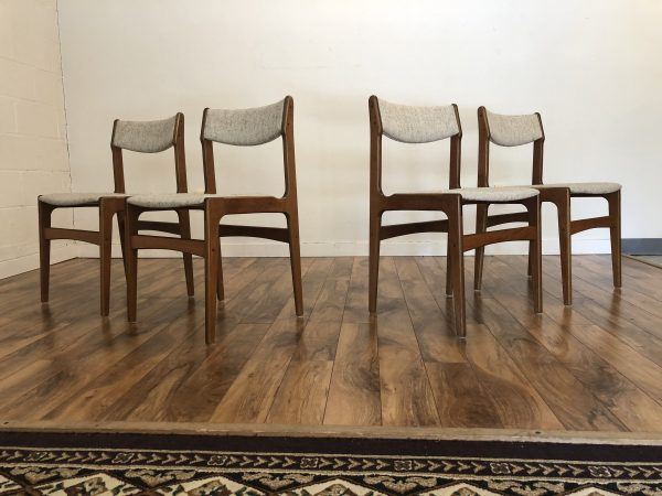 Farstrup Danish Teak Dining Chairs, Set of 4 – $750