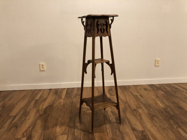 Antique Oak Art Nouveau Fern Stand – $350