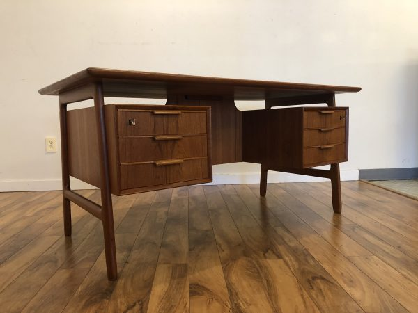 Omann Jun Model 75 Teak Desk – $2995