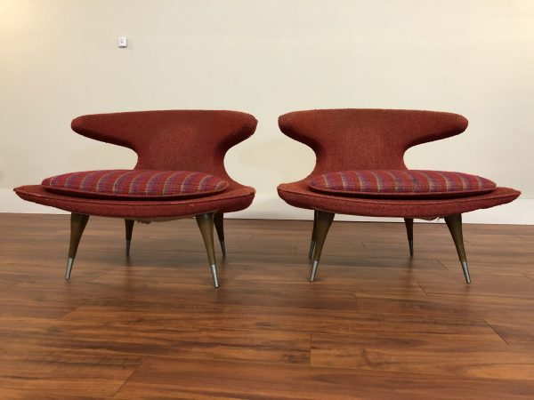 Karpen Furniture Horn Chairs Pair, All Original – $6995