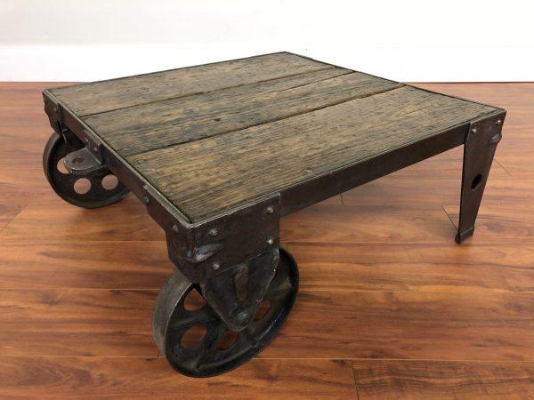 Vintage Industrial Coffee Table – $995
