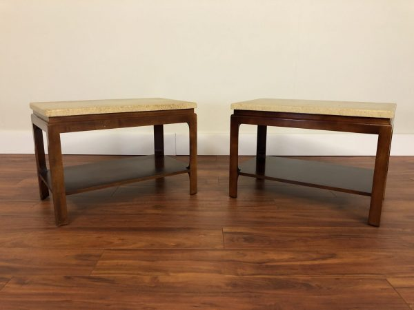 Paul Frankl Johnson Furniture Cork Top End Tables – $2795