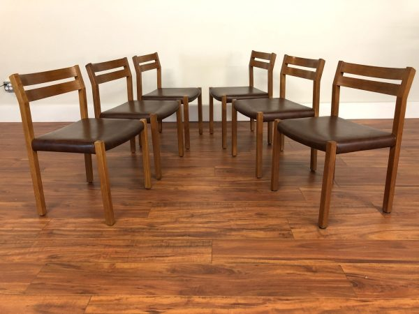 Moller Model 404 Dining Chairs, Set of 6 – $2395