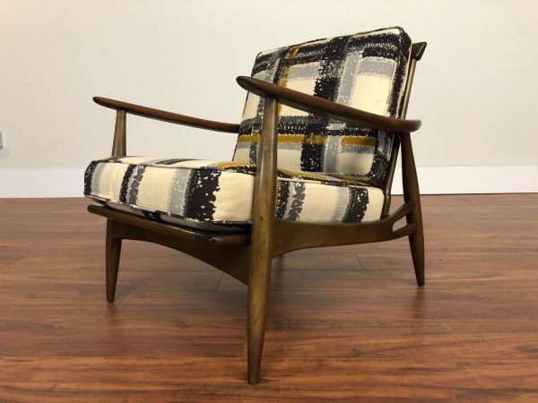 Mid Century Vintage Walnut Lounge Chair – $795