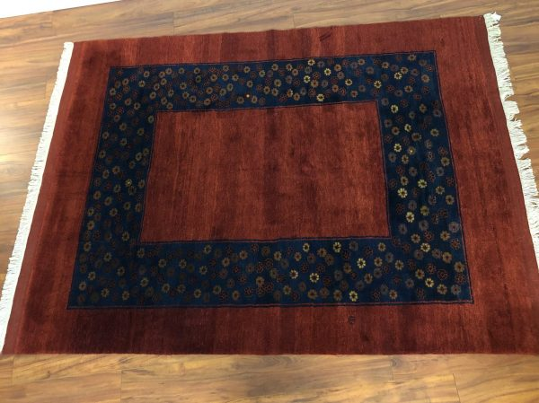 Vintage Floral Hand-Knotted Wool Rug – $1195