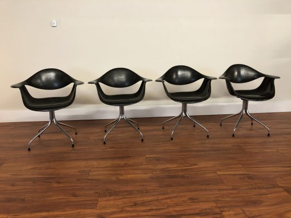 George Nelson Vintage Swag Leg Chairs, Set of 4 – $7995