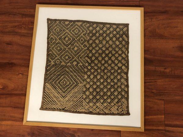Original Framed Kuba Cloth (A) – $250
