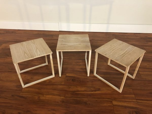 Kai Kristiansen White Oak Nesting Tables – $850