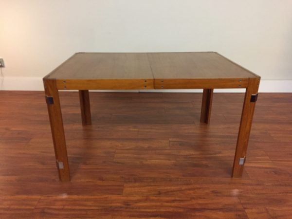 Teak & Chrome Vintage Dining Table – $595
