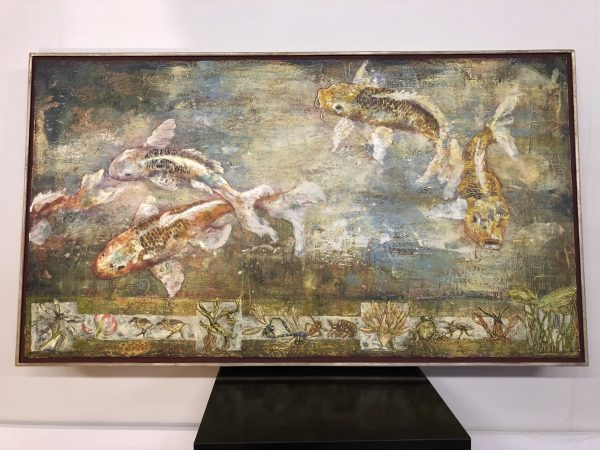 """Koi with Pond Icon"", Michelle Haglund – $2250"