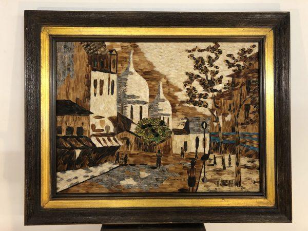 Vintage Framed Feather Art Composition – $1295