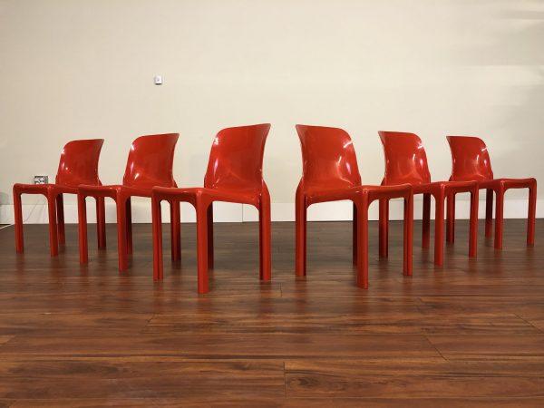 Vico Magistretti Selene Stacking Chairs, Set of 6 – $1950
