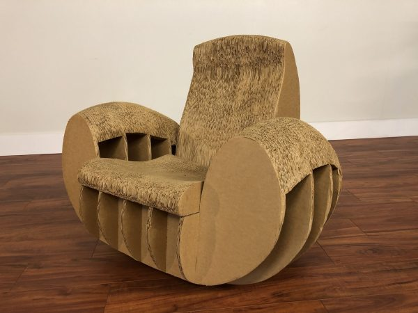 Jake Seong Cardboard Art Rocking Chair – $1495