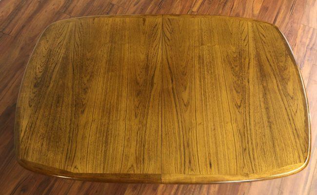 Sold D Scan Oval Teak Dining Table Modern To Vintage