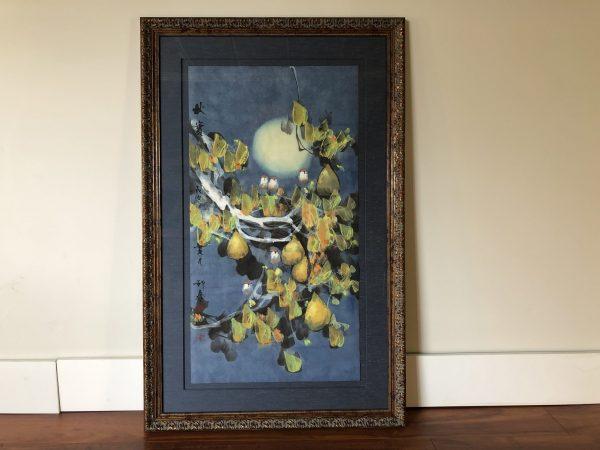 Fang Eqin Original Framed Watercolor – $1250