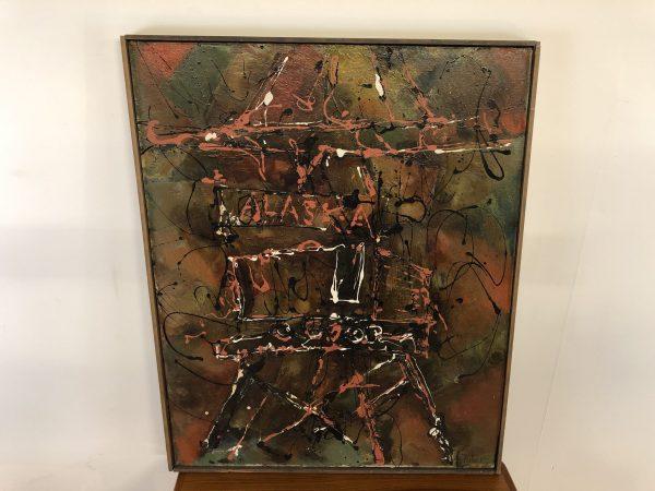 """""""Alaska"""" Mid Century Oil On Canvas – $375"""