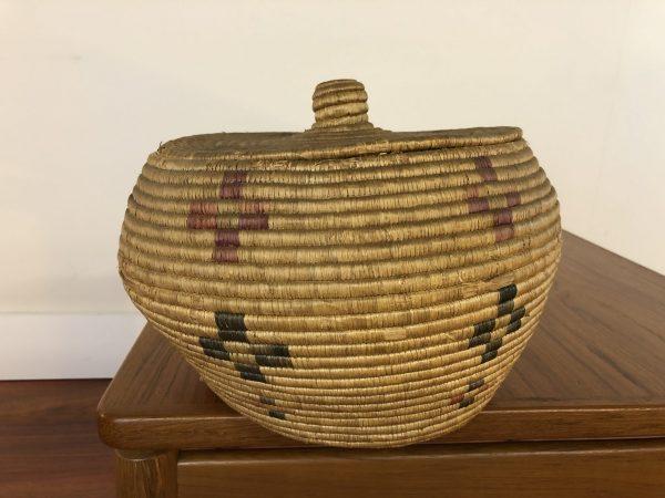 Native American Vintage Woven Basket – $195