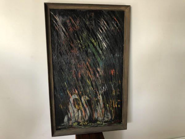 Anne Gardner Vintage Framed Oil on Board – $295