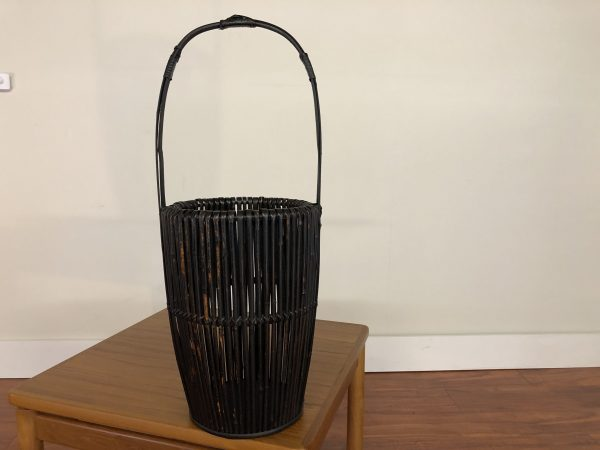 Asian Black Bamboo Basket – $250