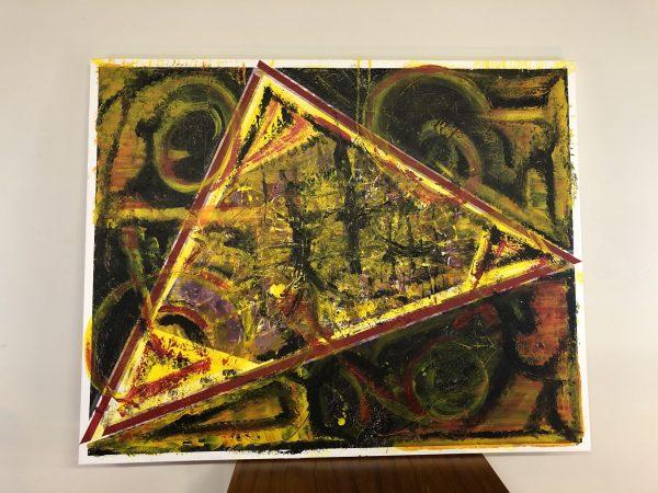 Large Geometric Acrylic Painting – $575