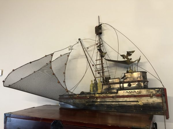 Curtis Jere Maria Fishing Boat Wall Sculpture – $895