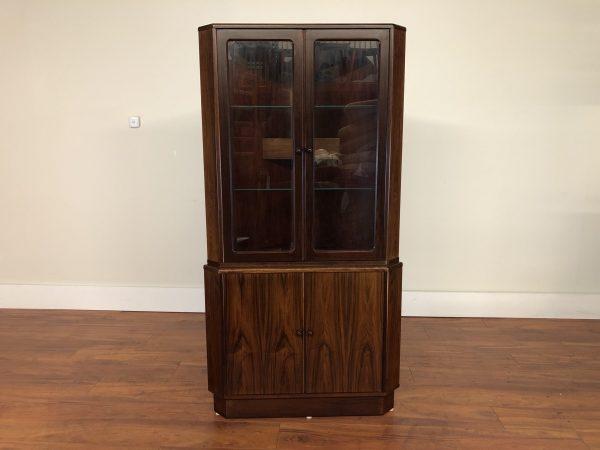 Danish Rosewood Corner Cabinet – $850