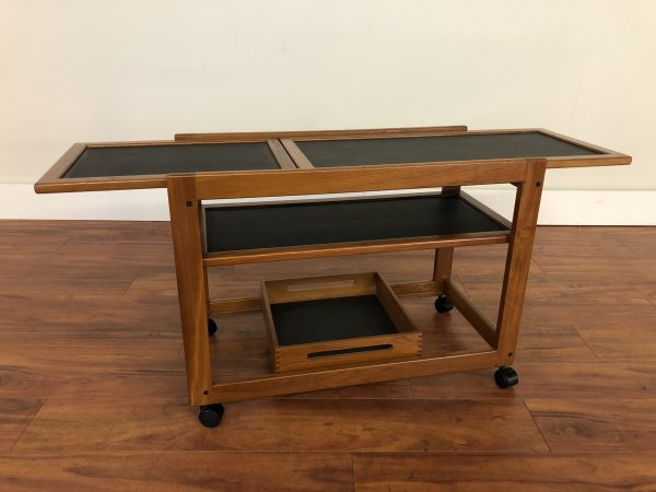 Danish Modern Teak Bar / Serving Cart – $850