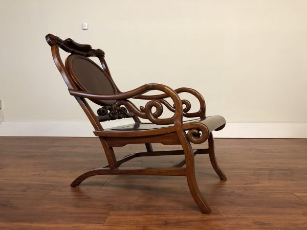 Chinese Rosewood Moon Gazing Armchair – $695
