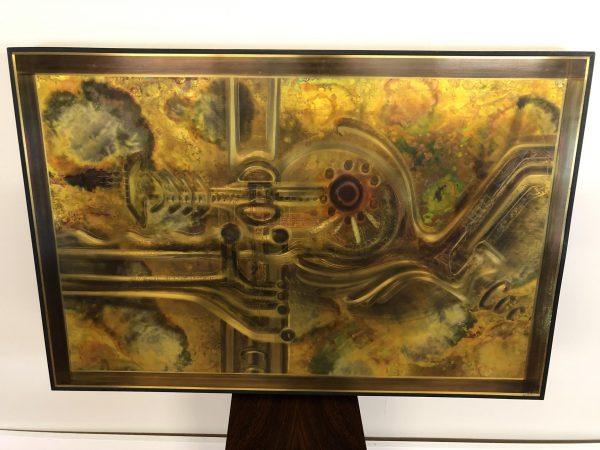 Bernhard Rohne Acid Etched Metal Art – Framed – $995