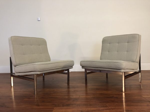 SOLD – Florence Knoll Model 65 Slipper Chairs Pair