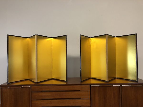 Japanese 4 Panel Gold Screens Pair – $550