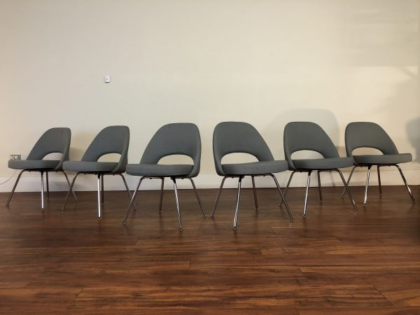 Knoll Saarinen Armless Executive Chairs, Set of 6 – $4495