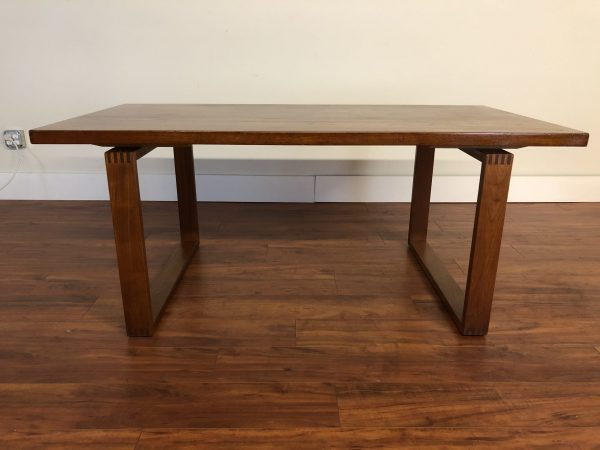 AM Mobler Teak Sled Leg Dining Table – $850