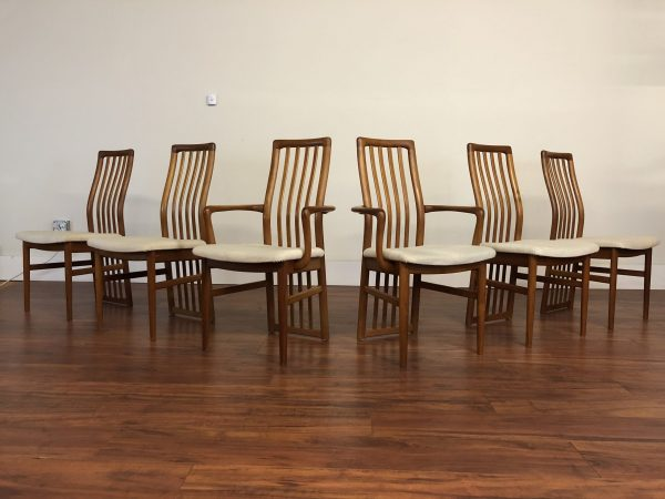 SOLD – Kai Kristiansen Teak Dining Chair Set