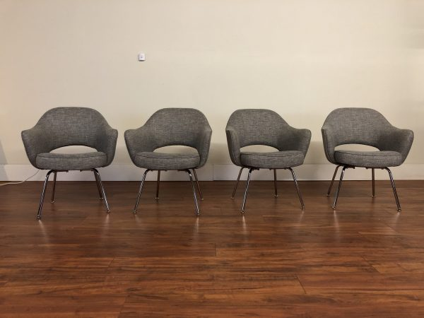 Knoll Saarinen Executive Armchairs Set of 4 – $3495