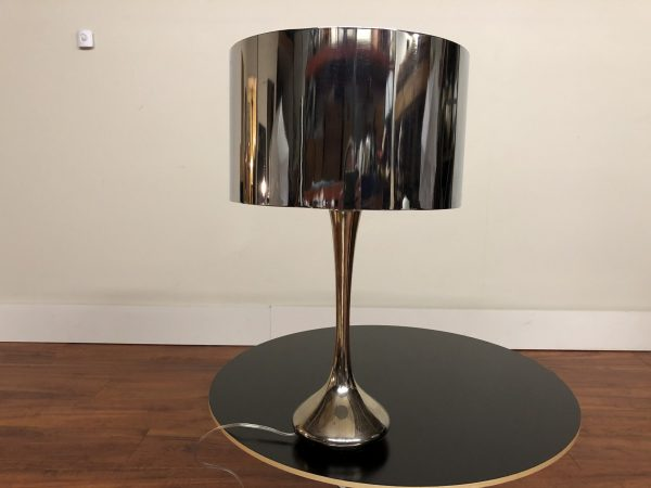 Laurel Vintage Chrome Lamp With Chrome Shade – $675
