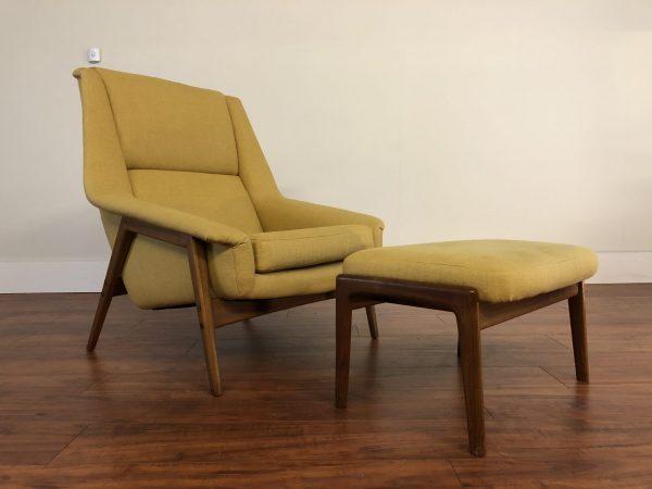 Vintage Dux Style Chair & Ottoman – $1795