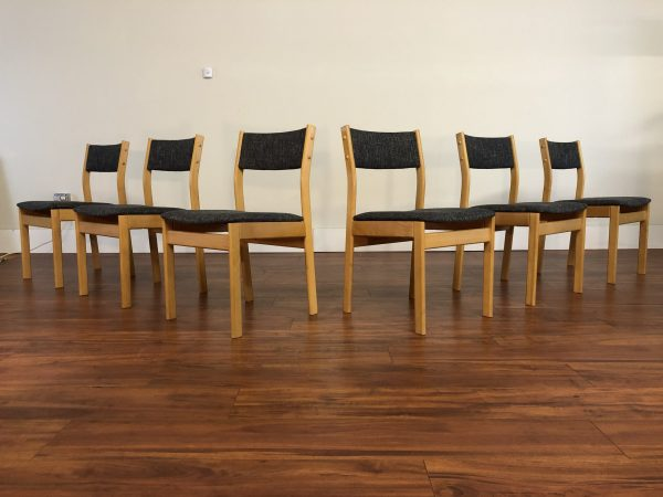 Danish Modern Beech Dining Chairs, Set of 6 – $1495