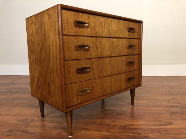 SOLD – Petite 4 Drawer Vintage Teak Dresser