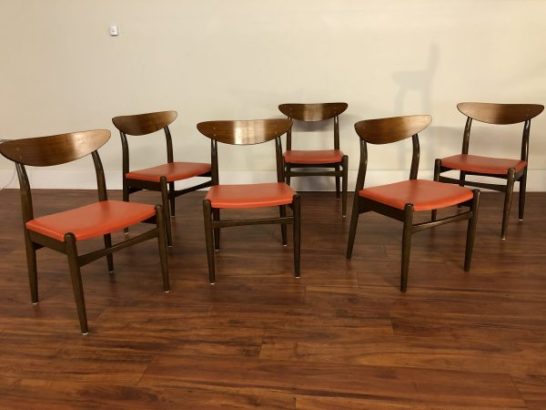 Dux Vintage Mid Century Dining Chairs Set of 6 – $2795