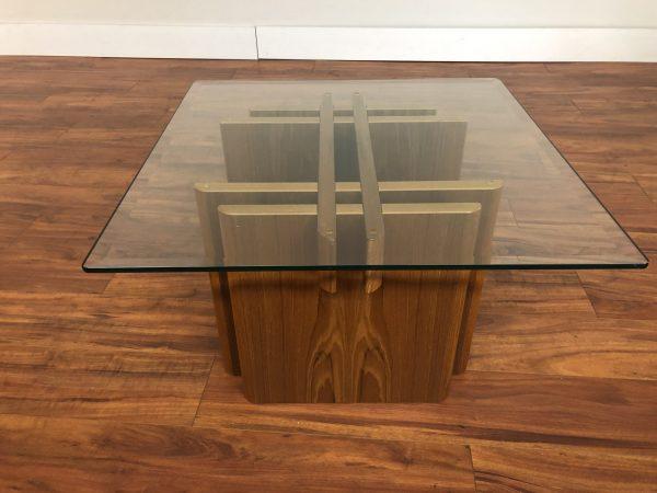 Gustav Gaarde Square Teak & Glass Coffee Table – $350