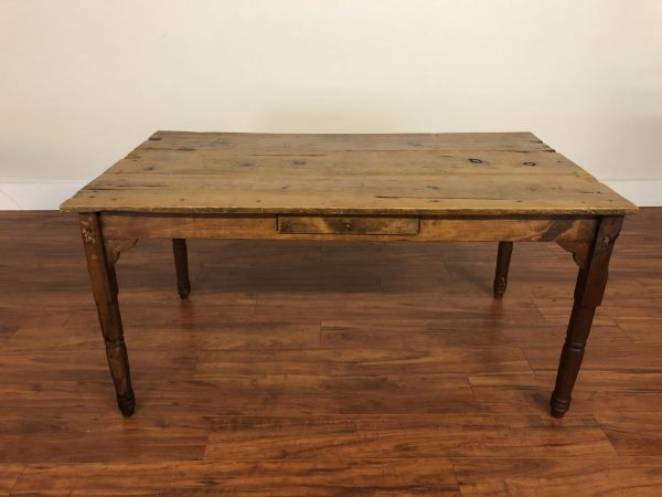 SOLD – Antique Solid Wood Farmhouse Dining Table