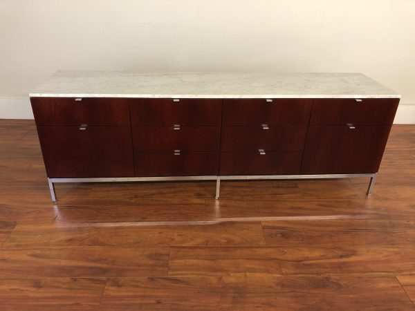 Florence Knoll 4 Position White Marble Credenza – $6750
