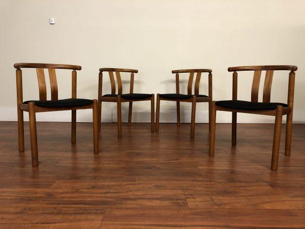 Johannes Andersen Teak Dining Chairs, Set of 4 – $1195
