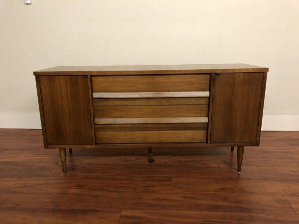 Bassett Vintage Walnut Sideboard Buffet – $795