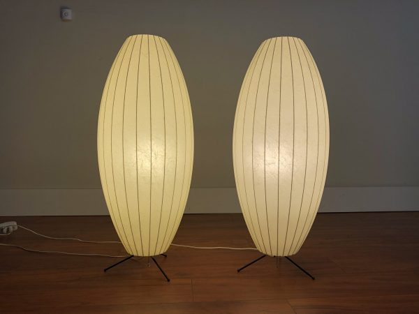 George Nelson Vintage Cigar Lamps, Pair – $1795