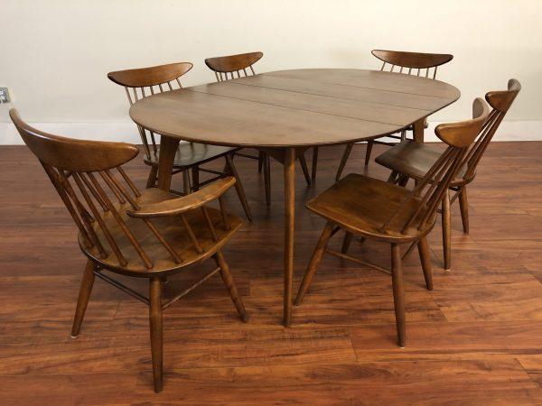 Conant Ball Solid Wood Mid Century Dining Set – $1995