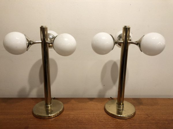 Pair Funky 70's Table Lamps – $695