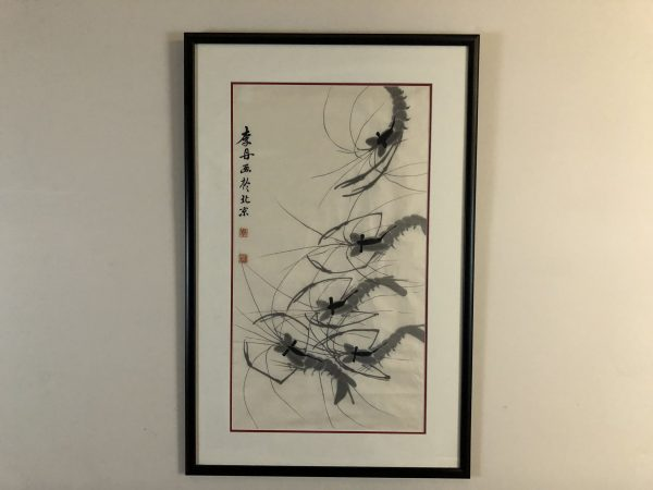 Sumi Ink Shrimp Painting – $125